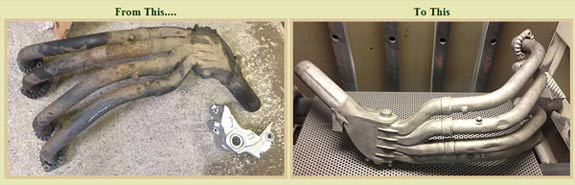 Before and After Sand Blasting